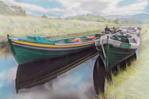 Photograph - Into The Mist Boats In The Country by Debra and Dave Vanderlaan