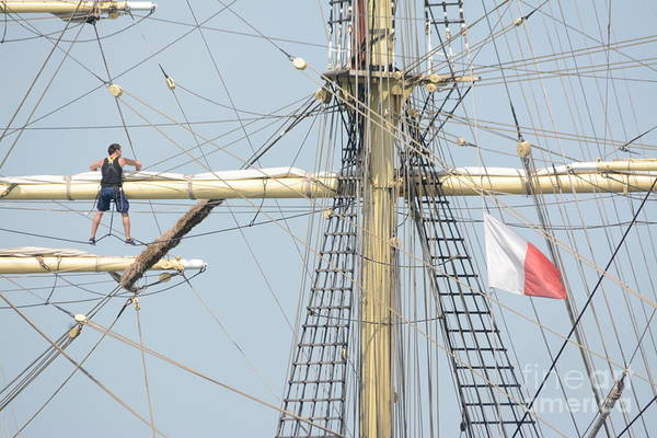 Photograph - Into The Rigging by Charles Owens