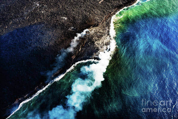 Photograph - Lava Flow Into The Sea by M G Whittingham