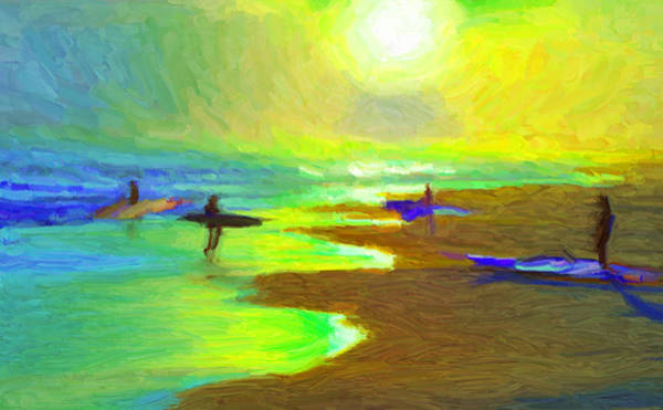 Into The Surf Art Print
