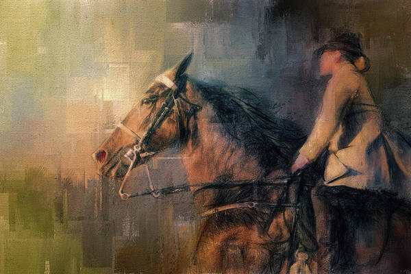 Painting - Into The Turn Tennessee Walking Horse Art by Jai Johnson