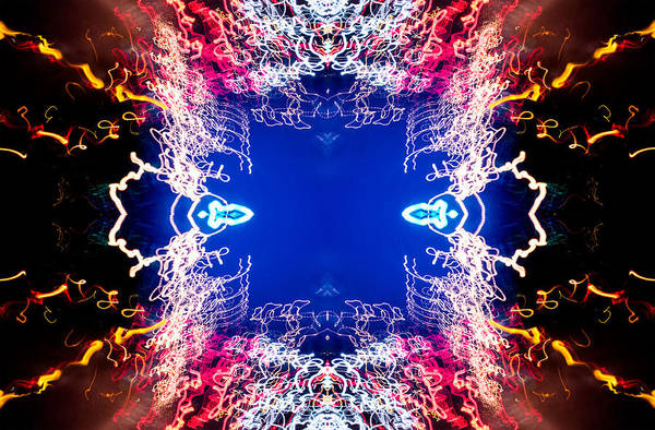 Photograph - Into The Void Ufa Neon Abstract #1 by John Williams