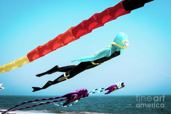 Kite Festival Wall Art - Photograph - Into The Wind - Kites by Colleen Kammerer