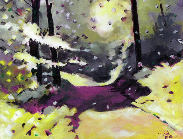 Painting - Into The Woods 2 by Anil Nene