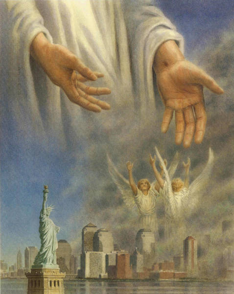 World War 11 Painting - Into Thy Hands  10 X 8 by Barry DeBaun