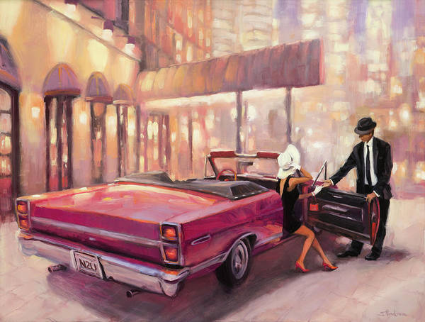 Night Wall Art - Painting - Into You by Steve Henderson