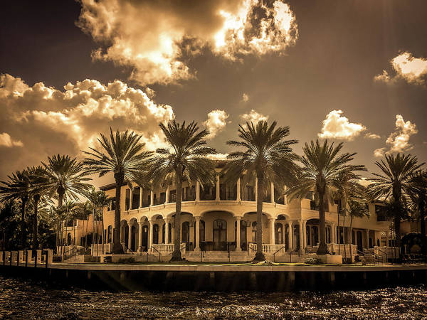 Wall Art - Photograph - Intracoastal Waterway Florida House by Art Spectrum