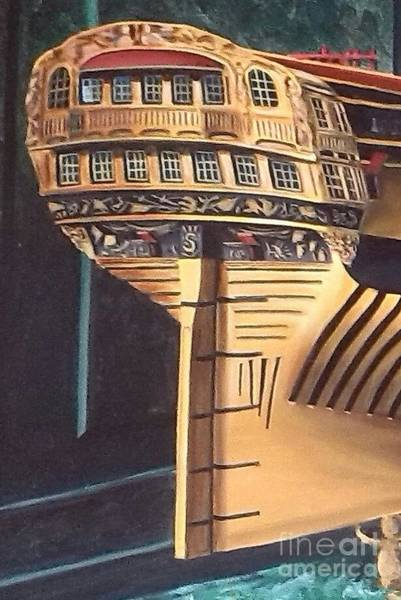 Wall Art - Painting - Intrepid Stern Detail by Richard John Holden RA