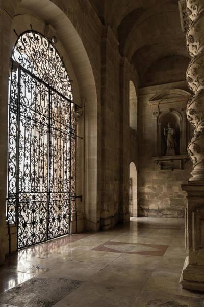 Photograph - Intricate Ironwork - Lacy Wrought Iron Gates by Georgia Mizuleva