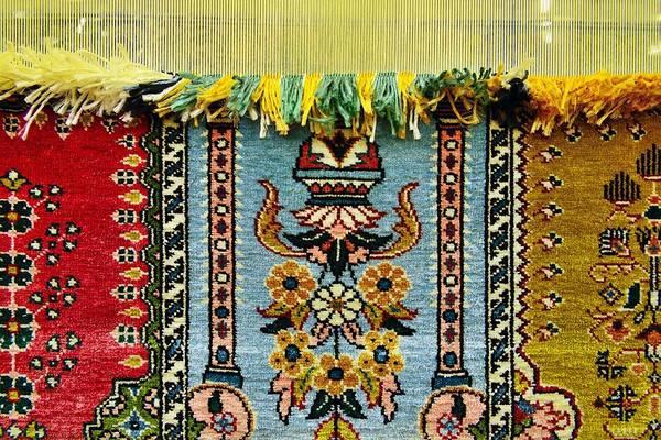 Eastern Anatolia Photograph - Intricate Silk Weaving At The Carpet Cooperative In Ortahisar, Cappadocia, Turkey by David Lyons