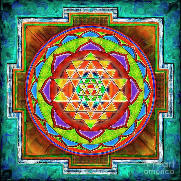 Shree Wall Art - Digital Art - Intuition Sri Yantra 2 by Dirk Czarnota