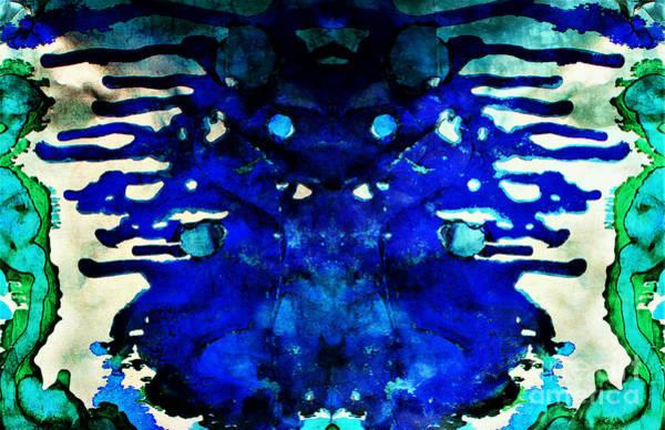 Mixed Media - Intuitive Blue by Jolanta Anna Karolska