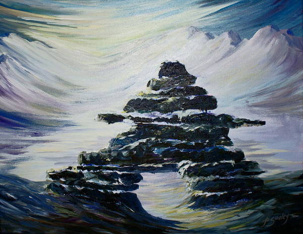Painting - Inukshuk by Joanne Smoley