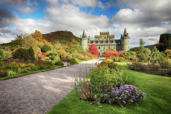 Photograph - Inveraray Castle Garden In Autumn by Grant Glendinning
