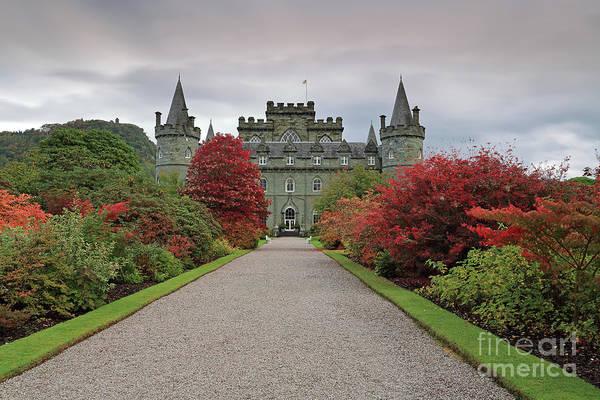 Photograph - Inveraray Castle In Autumn by Maria Gaellman