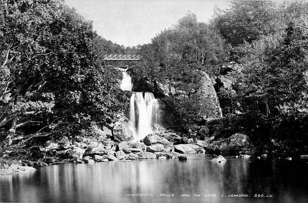 Photograph - Inversnaid Falls From The Lock L Lomond by Lee Santa