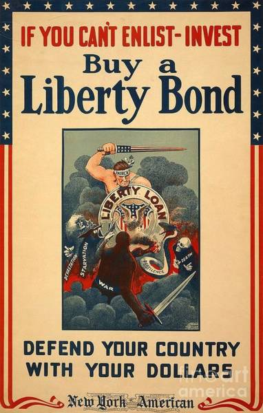 War Bonds Digital Art - Invest In Bonds by Frederick Holiday