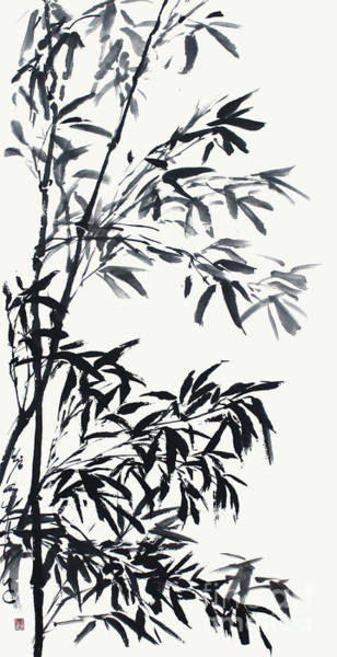 Painting - Invigorated Bamboo After The Rain  by Nadja Van Ghelue