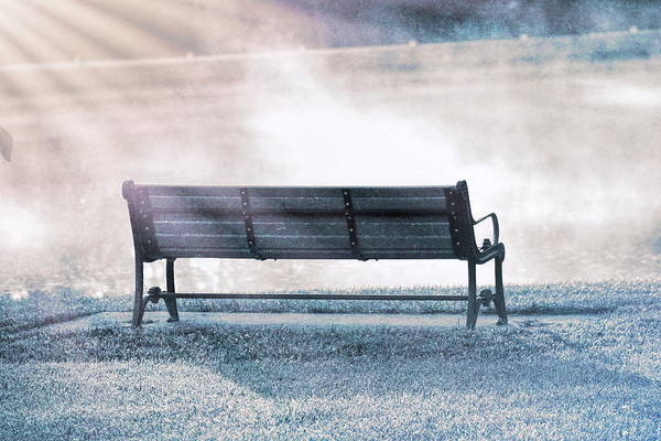 Photograph - Inviting Morning Bench by Dan Sproul
