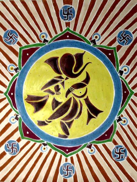 Arisen Painting - Invocation by Karunita Kapoor