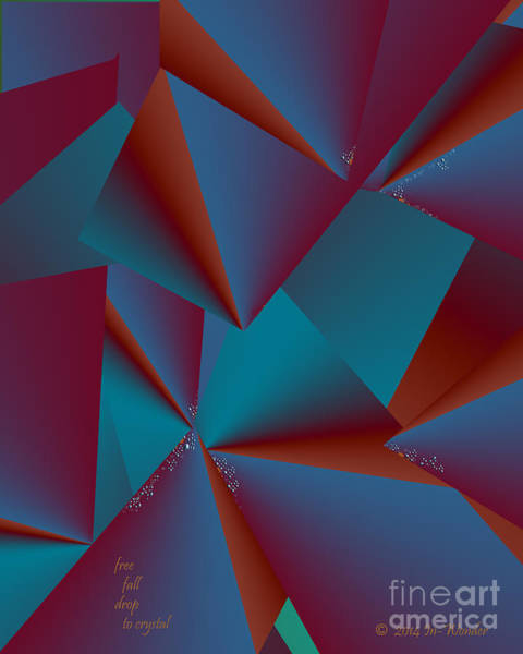 Digital Art - Inw_20a6146 Free Fall Drop To Crystal by Kateri Starczewski