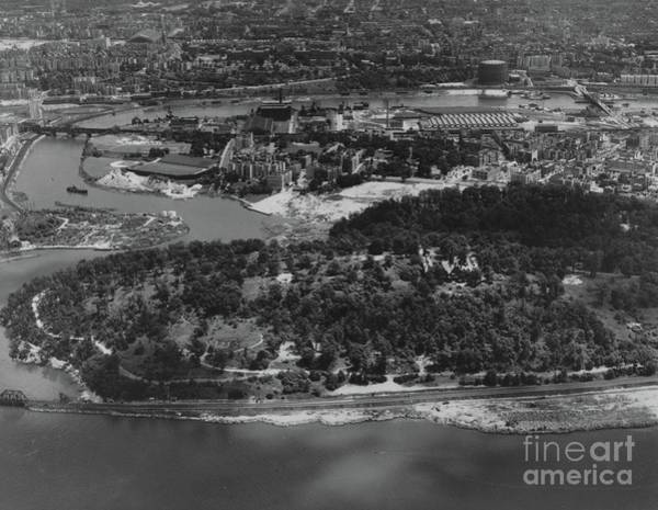 Photograph - Inwood Hill Park Aerial, 1935 by Cole Thompson
