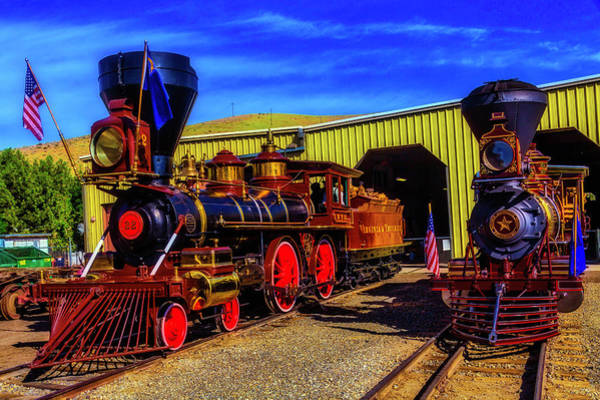 Wall Art - Photograph - Inyo And Glenbrook Gingerbread Trains by Garry Gay
