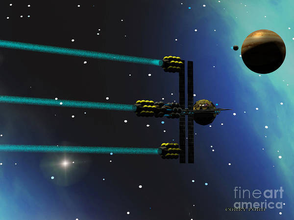 Endless Painting - Ion Starliner by Corey Ford