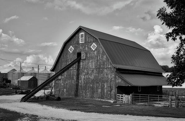Feedlot Photograph - Iowa Farm Scene by L O C