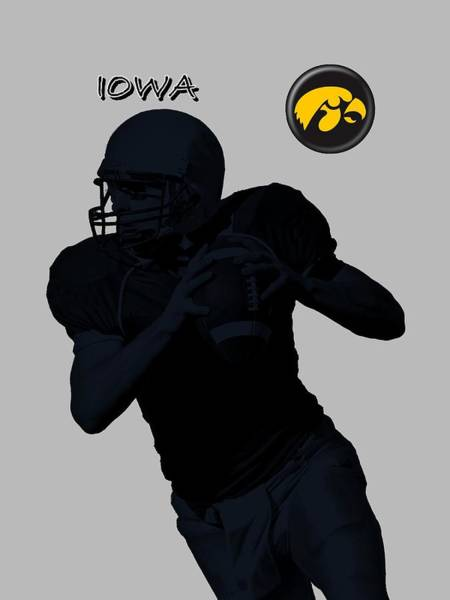 Digital Art - Iowa Football  by David Dehner