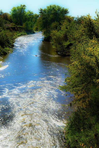 Photograph - Iowa River Flows by Edward Peterson