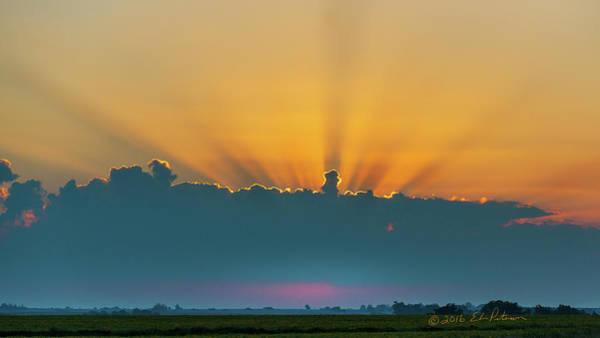 Photograph - Iowa Sun Rays by Edward Peterson