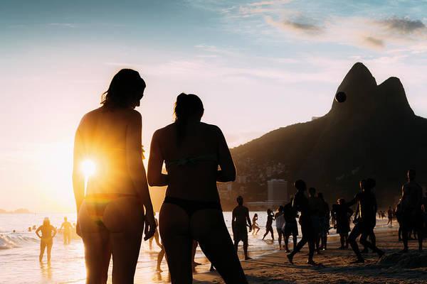 Ipanema, Rio De Janeiro, Brazil At Sunset Art Print