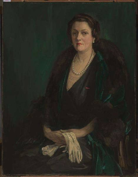 Ir Painting - ir John Lavery   Alma de Bretteville Spreckels  Mrs  Adolph B  Spreckels by ir John Lavery