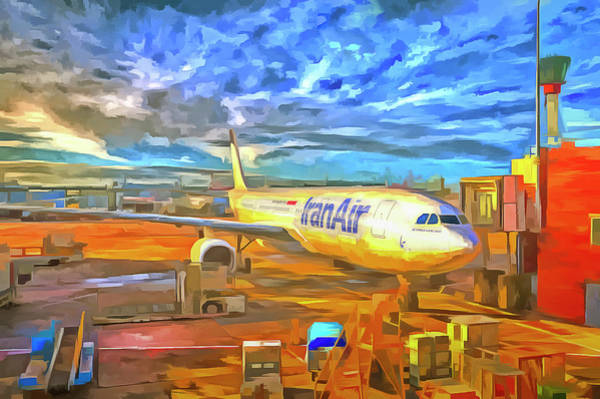 Wall Art - Photograph - Iran Air Airbus A330 Pop Art by David Pyatt