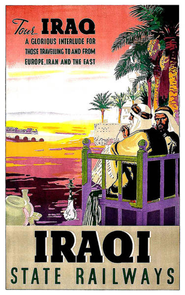 Railway Painting - Iraq Tour By State Railway by Long Shot