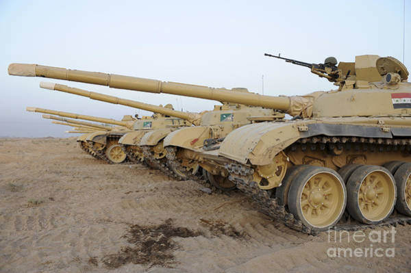 Artillery Brigade Photograph - Iraqi T-72 Tanks From Iraqi Army by Stocktrek Images