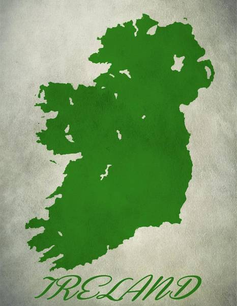 St Patricks Painting - Ireland Grunge Map by Dan Sproul