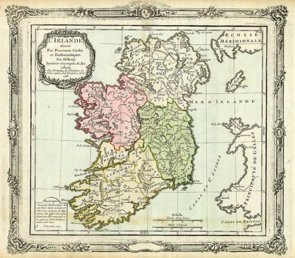 Wall Art - Photograph - Ireland Map Ca 1766 by Jon Neidert