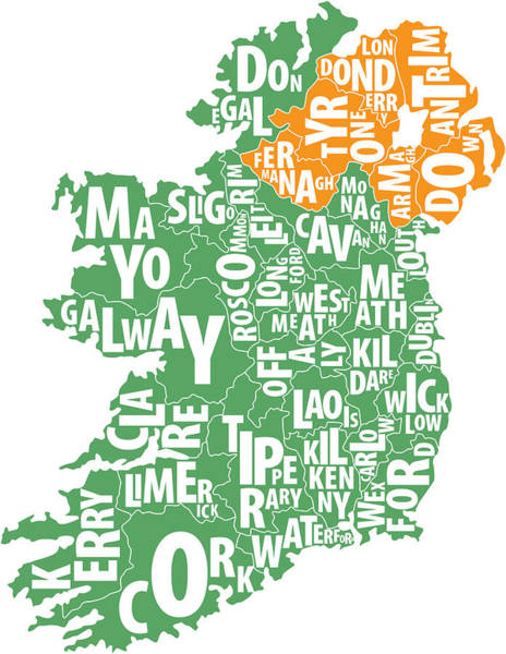 Donegal Digital Art - Ireland by Patrick Garvin