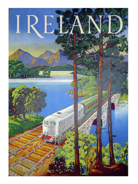 Railway Painting - Ireland, Railway, Travel Poster by Long Shot
