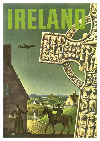 Wall Art - Painting - Ireland, Vintage Travel Poster by Long Shot