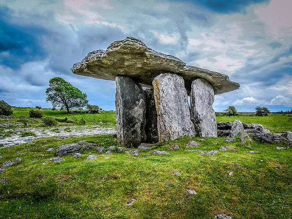 Photograph - Ireland's Mysterious Ancient Poulnabrone Dolmen by James Truett