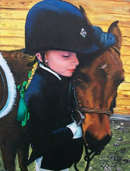 Painting - Irelee And Scarlet by Sharon Duguay