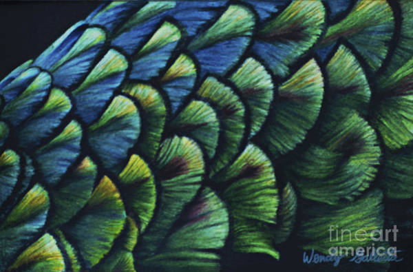Bright Colours Mixed Media - Iridescence by Wendy Galletta