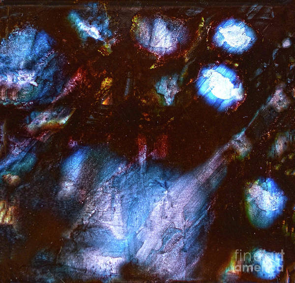 Painting - Iridescent Shades Of Black IIi by Christine Dekkers