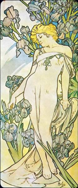 Alfonse Mucha Painting - Iris by Alphonse Mucha