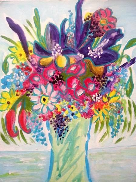 Painting - Iris And Carnations by Nikki Dalton