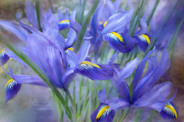 Purple Iris Mixed Media - Iris Bouquet by Carol Cavalaris