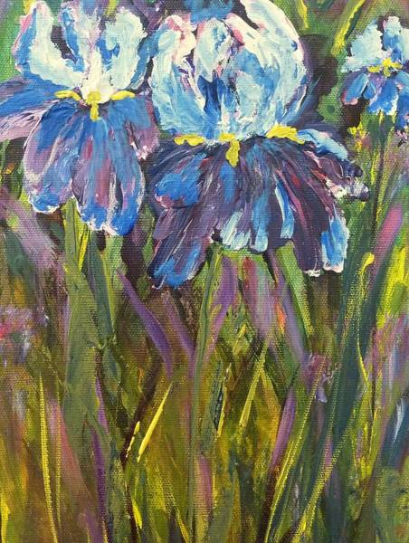 Painting - Iris Floral Garden by Claire Bull